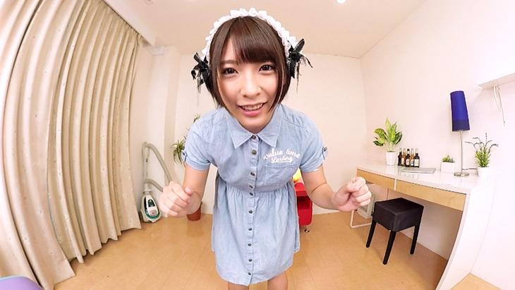 アダルトVR動画:【無料】うん、かわいい!メイドな阿部乃みくの元気ハツラツな自己紹介☆彡