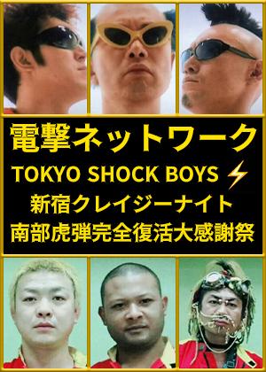 VR動画:電撃ネットワーク TOKYO SHOCK BOYS 新宿クレイジーナイト 南部虎弾完全復活大感謝祭