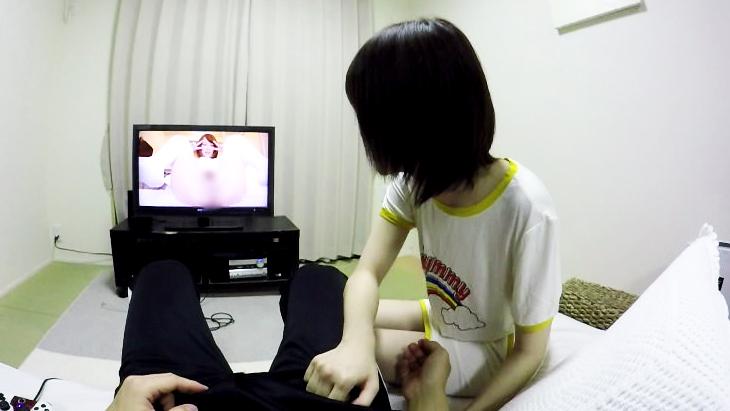 美少女と一緒にAV鑑賞 02