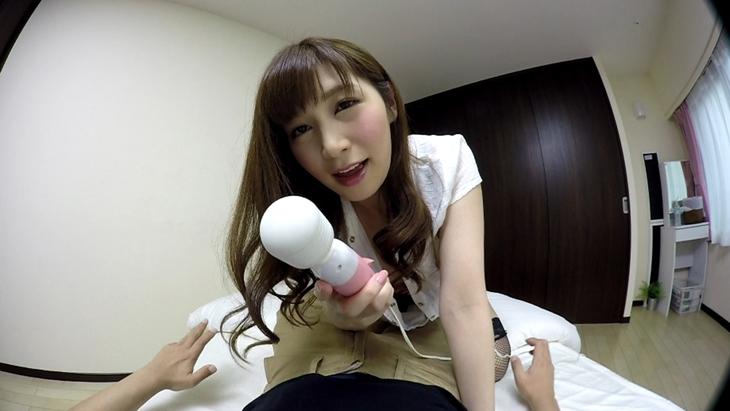 佐々木あき:私は痴女 VR いきなり部屋に現れた電マ美女と中出しSEX!