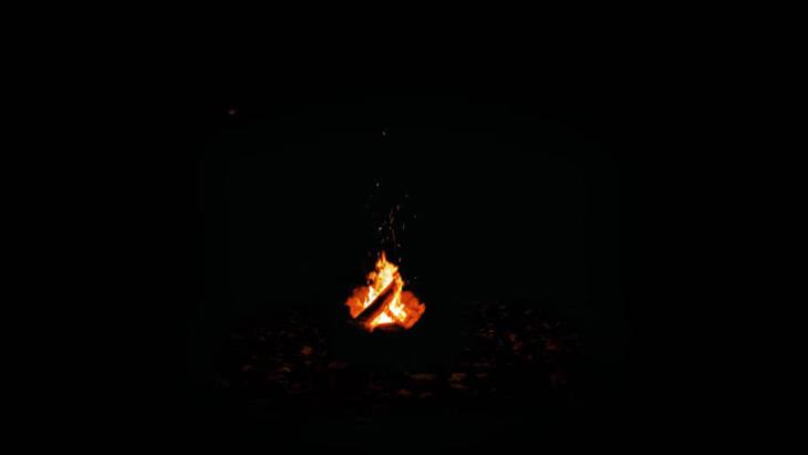 Campfire at night ~焚き火~:1枚目