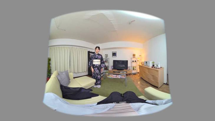 """""""はだける浴衣""""でイチャイチャ新婚生活(はーと) 鈴木咲 ファンが見たいVR:1枚目"""