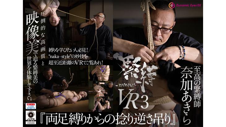 【通常版】緊縛VR3 『両足縛りからの捻り逆さ吊り』