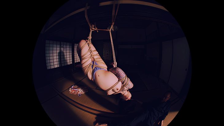【通常版】緊縛VR3 『両足縛りからの捻り逆さ吊り』 イメージ