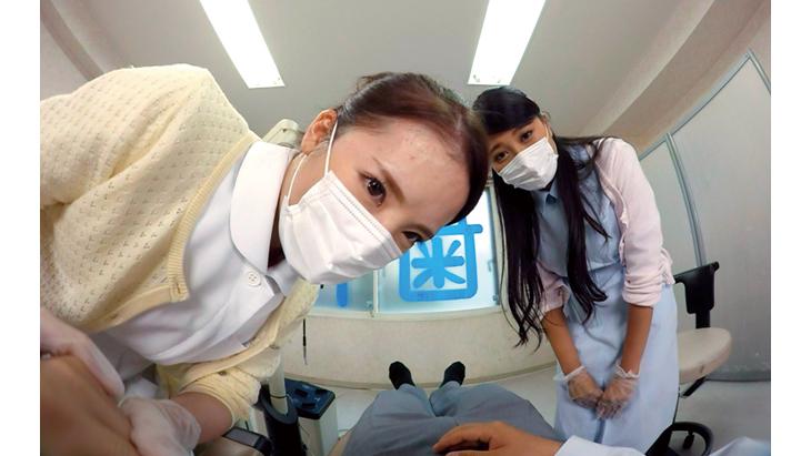 欲求不満歯科助手二人と治療中にこっそりSEX(るりちゃん、レナちゃん)