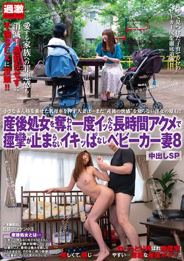 産後処女を奪われ一度イッたら長時間アクメで痙攣が止まらないイキッぱなしベビーカー妻8 中出しSP