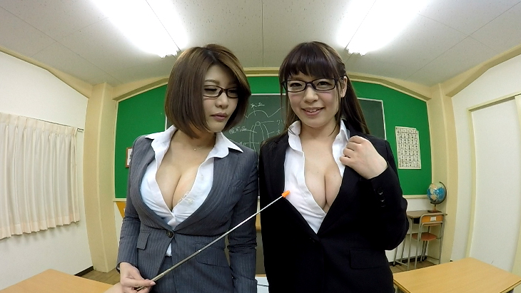 W巨乳淫乱教師の中出し性教育授業 水城奈緒 推川ゆうり