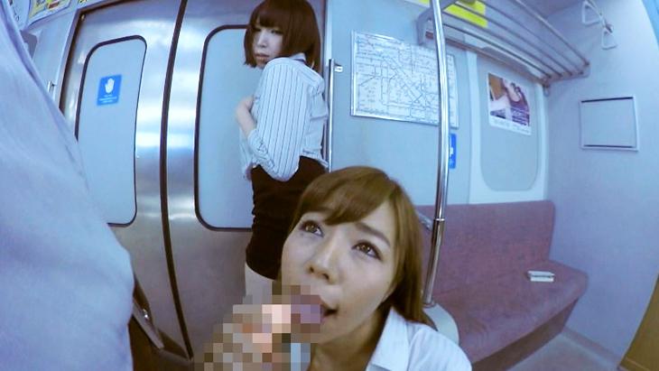 電車の中で.....濃厚フェラ オナニー 終点までイッちゃおう!