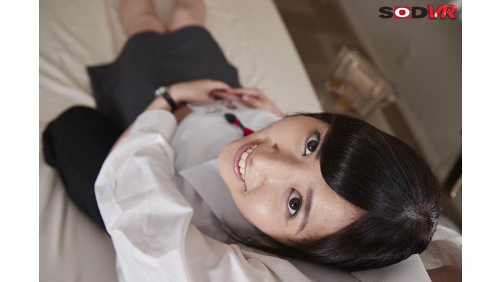 VR作品で「カワイイ!」「アノ子は誰!?」と話題のSOD女子社員 営業部(元 総務部)石田曜子がアナタの恋人になります!全部中出し3射精!