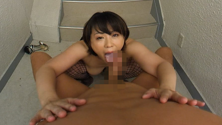 【匠】円城ひとみ 非常階段のスッポン痴女